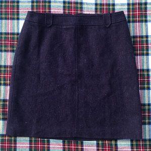 NWT- Talbots Wool Pencil Skirt Purple